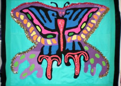 """Butterfly Quilt"" Wholly Rags + Chrysalis School"