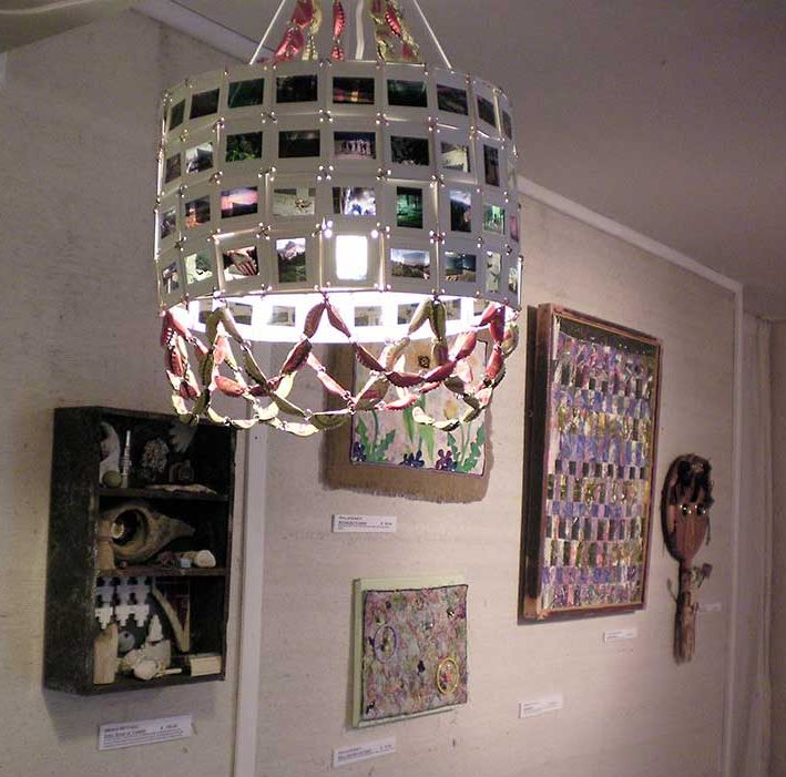 """Soda and Slide Chandelier"" Mary Hoffman"