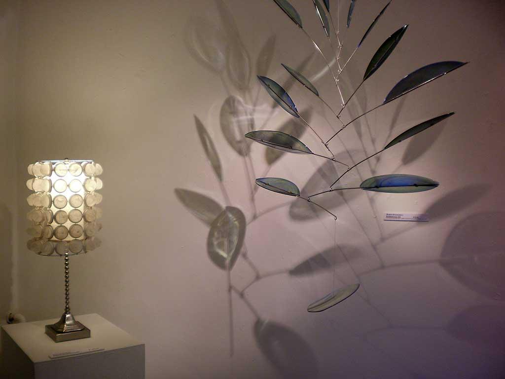 """Modern Bohemian Lamp"" Mary Hoffman  + ""Elementals #2"" Robin Stanaway"