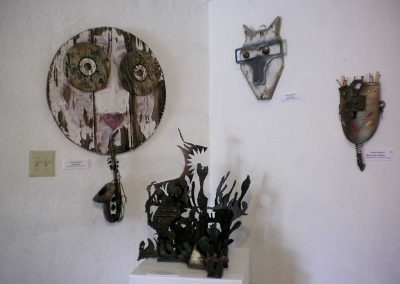"""Crazy Face"" + ""Animal Head"" Carl Burrows + ""Metal Head -Primal"" Kerry Bennett +""Metal Series #1"" Carol Rippetoe"
