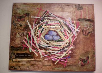 """Collaged Nest""   Marie Anderson"