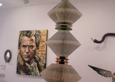 """Tower of Words"" (foreground) Noel Anderson"