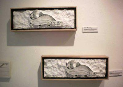 """"""" Spawing Salmon I & II """"  Gerd Bianga"""