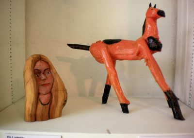 """Drift Wood Woman""+""Pinto Pony""  Ed Larson"