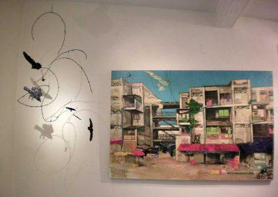 """El Duende"" Robin Stanaway + ""White Building in Phnom Penh""  Erin Currier"